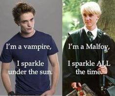 Even a Malfoy is better than Twilight Vampire