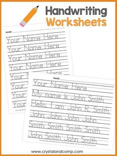 Handwriting Worksheets , Worksheets are made for a variety of levels. Anyway, worksheets on handwriting result in great hand-eye. The handwriting worksheets aren't customizabl. Improve Your Handwriting, Improve Handwriting, Nice Handwriting, Printable Handwriting Worksheets, Name Tracing Worksheets, Preschool Printables, Kindergarten Worksheets, Preschool Writing, Preschool Ideas