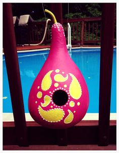 Paisley Gourd Bird House by OhMyGourdgeous on Etsy