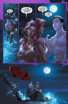 DC comics New Starfire and Jason Todd. Redhood and the Outlaws comic - Visit to grab an amazing super hero shirt now on sale! Comic Movies, Comic Books Art, Comic Art, The Avengers, Fanart, Digimon, Teen Titans Love, Redhood And The Outlaws, Batman Y Superman