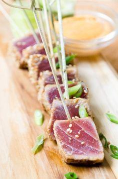 Ahi Tuna Skewers with Sriracha Aioli…………… ((STEAK)) ahi tuna ...