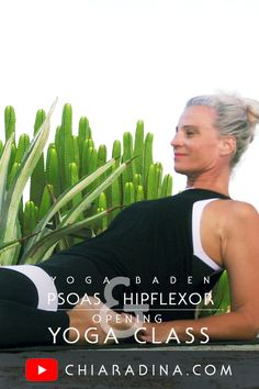 """This video is for you if you suffer from lower back pain and/or tightness in the groin and upper thigh area. We are lengthening (""""stretching"""") and - at the same time – strengthening the ilio-psoas, rectus femoris and the """"stocking"""" of fascia that covers our myofascial tissues in upper front legs, groins, hips and lower belly. #psoas #yoga #yogaclass #yogavideo"""