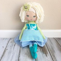 Oh my goodness such a sassy lil cutie! I love her! #readytoship #spuncandydolls #clothdoll Handmade Doll by SpunCandy