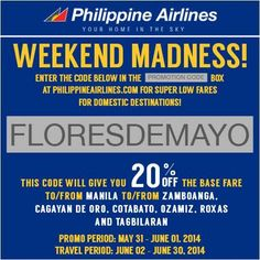 Philippine Airlines Cagayan de Oro Promo and Other Destinations at 20 Percent Off
