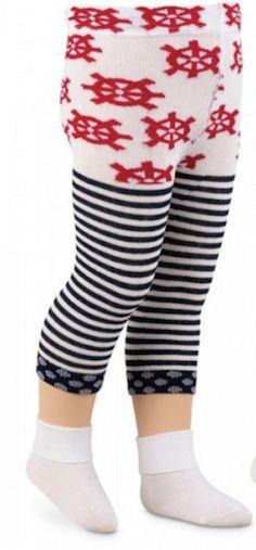 75799621908 Jefferies Socks Baby Sailor Girl Capri Nautical Stripes Americana Capris  6-24 mo  Jefferies