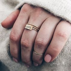 Personalized Bar Ring by Barberry + Lace | www.barberryandlace.com