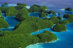The Rock Islands, Palau by Bob Krist