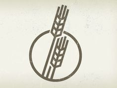 simplistic logo if wheat. It doesn't look organic enough for the style I would like to use.
