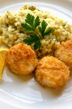 """""""Lightly breaded sea scallops cooked in the air fryer with the same results as deep frying, but without the nasty smell or mess!""""Preheat the air fryer to 390 degrees F degrees C). Air Fryer Recipes Snacks, Air Fryer Recipes Vegetarian, Air Fryer Recipes Low Carb, Air Fryer Dinner Recipes, Cooking Recipes, Cooking Tips, Lasagna Recipes, Keto Recipes, Breaded Scallops Recipe"""
