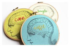 Love this embroidery hoop art! Your brain on....coffee? Cake?