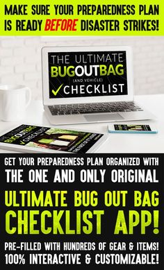 """WHAT A COOL IDEA!!! There are many """"bug out bag lists"""" out there, but NONE of them are THIS awesome!! This thing is completely interactive and customizable!! It's pre-filled with HUNDREDS of amazing bug out items, but you can completely customize it then print off your customized list in a print-friendly B&W version to laminate! So genius!! If you are into preparedness at all, you GOTTA check out this amazing Bug Out Bag Checklist APP!!"""