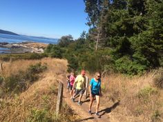 Hiking Gowland Pt on Pender Island