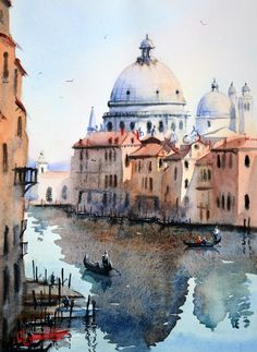 This is a collection of my watercolor paintings of Venice, Italy. I thoroughly enjoy painting scenes from Venice. I'm not certain why, but I would bring it down to the unique combination of w… Watercolor Sketchbook, Watercolor Landscape Paintings, Watercolor Trees, Watercolor Background, Abstract Watercolor, Watercolor Illustration, Tattoo Watercolor, Simple Watercolor, Watercolor Animals