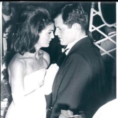 Jackie with TED Kennedy...yet they look so natural.