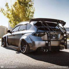 Cool or dump? Subaru Sti Hatchback, Subaru Impreza Sti, Wrx Sti, Wrx Mods, Slammed Cars, Street Racing Cars, Seat Leon, Car Tuning, Mustang Tuning
