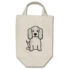 Cavalier King Charles Spaniel Dog Cartoon Canvas Bags