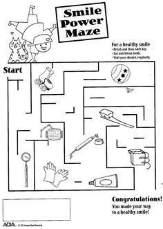Fun Dental Activity Sheets