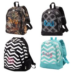 Monogram+personalized+back+pack+book+bag+by+AfterNineDesigns,+$36.00