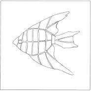 Free Mosaic Patterns To Print | Fish pattern number 3. Fish pattern used in my compass rose with ...