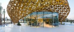 """Butterfly Pavilion """"The shape and design of the pavilion's biomorphic outer shell are the product of an intense formal exploration of parametric design strategies in dialog with traditional Arabian ornamentation."""" 3deluxe"""