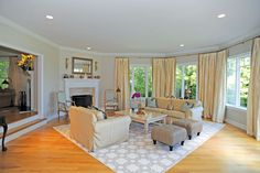 Living Room in Water Mill residence - Hamptons Real Estate