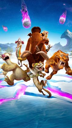 "Wallpaper for ""Ice Age: Collision Course"" Cute Disney Wallpaper, Cartoon Wallpaper, Blue Sky Movie, Ice Age Collision Course, Ice Age Movies, Lino Art, Cartoon Caracters, Character Wallpaper, Arte Disney"