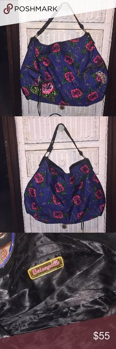 Large bag from Betsey Johnson Excellent condition- clean inside and out - it is a large bag with zippered pockets and 2 pockets inside- 2 small pockets on the outside - small shoulder handle - super cute and fashion statement maker - accepting offers Betsey Johnson Bags Shoulder Bags