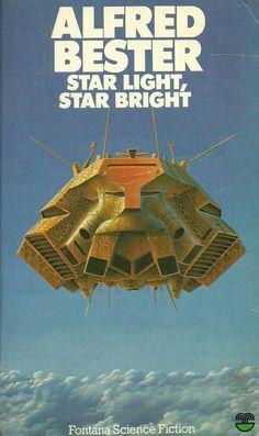 Alfred Bester Science Fiction Books, Pulp Fiction, Fiction Novels, Classic Sci Fi Books, Sci Fi Novels, Retro Futurism, Paperback Books, Spaceship Interior, Poster