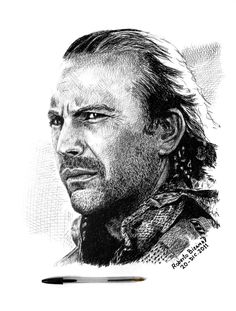 Kevin Costner by Roberto Bizama - Fan Art / Traditional Art / Paintings / Movies & TV - Deviant Art