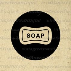 Printable Graphic Bar of Soap Icon Download Soap Digital Image Illustration for Transfers Tote Bags Tea Towels etc HQ 300dpi No.4403