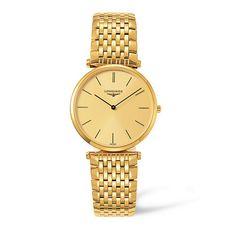 Longines Gents La Grande Classique Gold Plated Watch: £850.00