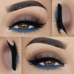 """1,506 Likes, 22 Comments - ⌜ P a o l a ⌟ (@paola.11) on Instagram: """"»@morphebrushes 35O palette »@sugarnaturelbeauty eyeshadows 'Cobalt' »Italia Deluxe eye liner…"""""""