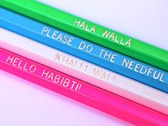 Set of 4 HB Pencils (imprinted with local sayings)