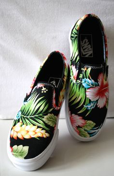 Introducing the latest addition to my Vans collection. Stepping Out, Kicks, Vans, Tropical, Slip On, My Style, Sneakers, How To Wear, Canada