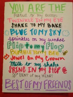 posters ideas for best friend - Google Search | Projects to Try ...