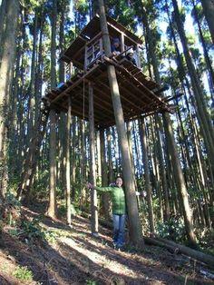 千葉県「ガンコ山ツリーハウス」では、ツリーハウス作りが体験できます!!自分だけの秘密基地を作ってみるのは夢の一つ。