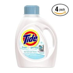 We only use free and gentle products to begin with. We've fallen in love with Tide when another alternative (like green products) isn't available.