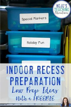 "Indoor recess preparation does not need to be difficult with the ideas in this blog post. From games, printable downloads (many of them FREE), and holiday ideas - you're sure to find something in this blog post to help the next time your elementary school gets the dreaded ""indoor recess"" call. Click through to see how you can prep NOW to save your time and sanity later in the school year. Perfect for the preschool, Kindergarten, 1st, 2nd, 3rd, 4th, 5th, or 6th grade classroom teacher."