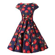 Chicanary Women's Strawberry Cap Sleeve Vintage Dress https://www.amazon.com/gp/product/B01F50XMNQ/ref=as_li_qf_sp_asin_il_tl?ie=UTF8&tag=rockaclothsto-20&camp=1789&creative=9325&linkCode=as2&creativeASIN=B01F50XMNQ&linkId=d2ba5a1606bc6af27b2d315d5f95be4e