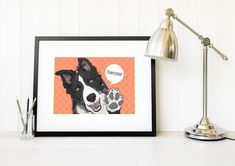 Excited to share the latest addition to my #etsy shop: Border Collie pop art Funny Border collie gift Modern border collie wall art prints Sheep dog illustration print gift idea Pet gifts for her https://etsy.me/2zt5hLl