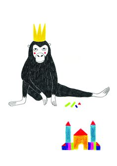 Le Singe Roi par Oona Seguin Illustration éditée par L'illustre Boutique Impression fine art Papier 250g Garantie Lumière 21 x 29,7 cm 30 exemplaires, numérotés et signés 38€50 Pour en savoir plus sur Oona Seguin, cliquer ici