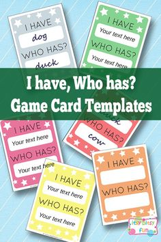 I have Who Has Template – Learning Games for Kids Free Printable I Have, Who Has? Template – Learning Games for Kids Teacher Tools, Teacher Hacks, Teacher Resources, Learning Games For Kids, Cooperative Learning, Language Games For Kids, Writing Games For Kids, Classroom Activities, Classroom Organization