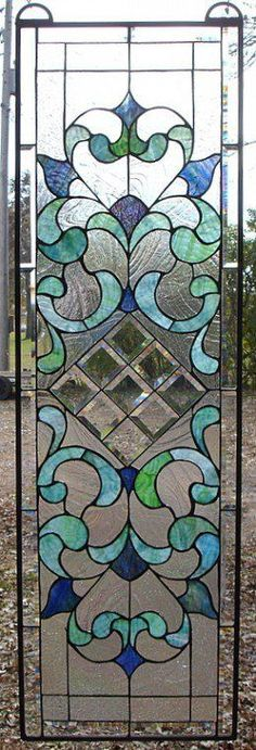 Home Improvement Ideas - Leaded Glass Windows Transoms Kitchen Bath and Stained Glass Door, Leaded Glass Windows, Stained Glass Designs, Stained Glass Panels, Stained Glass Projects, Stained Glass Patterns, Mosaic Patterns, Beveled Glass, Mosaic Glass