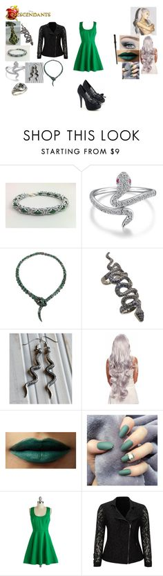 """""""Dove Malfoy-Daughter of Lucius and Naricssa  Malfoy and sister of Draco"""" by maxinehearts ❤ liked on Polyvore featuring Roberto Cavalli, Loree Rodkin, Live Unlimited, harrypotter, OC and Descendants"""