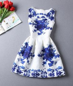 A-Line Printing Sleeveless Casual Dress Just ordered another color-we'll see how it goes?