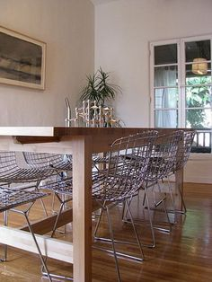 Bertoia chairs add dimension and depth, and are just really awesome!