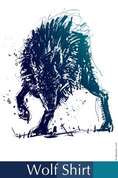 Wolf Howl Night Mens Sleeveless Activewear Top Jersey