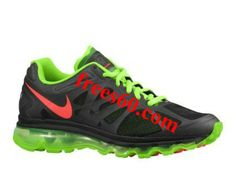 Buy Latest Listing Mens Nike Air Max 2012 Black Electric Green White Bright Crimson Shoes The Most Flexible Running Shoes