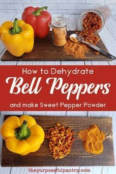 Learn to dehydrate bell peppers at their peak, and save them for all year long. Bonus is learning to make your own Mock Paprika from them! Dehydrated Vegetables, Canning Vegetables, Dehydrated Food, Sweet Bell Peppers, Stuffed Sweet Peppers, Long Term Food Storage, Pepper Spice, Pepper Powder, Powder Recipe
