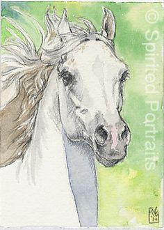 ACEO mounted horse print - Spirit #art #print $9.35
